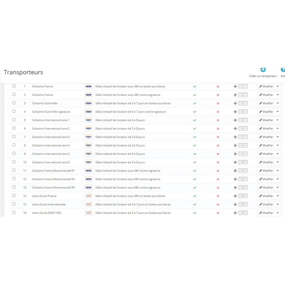 module - Transporteurs - Configuration Facile Colissimo - 1