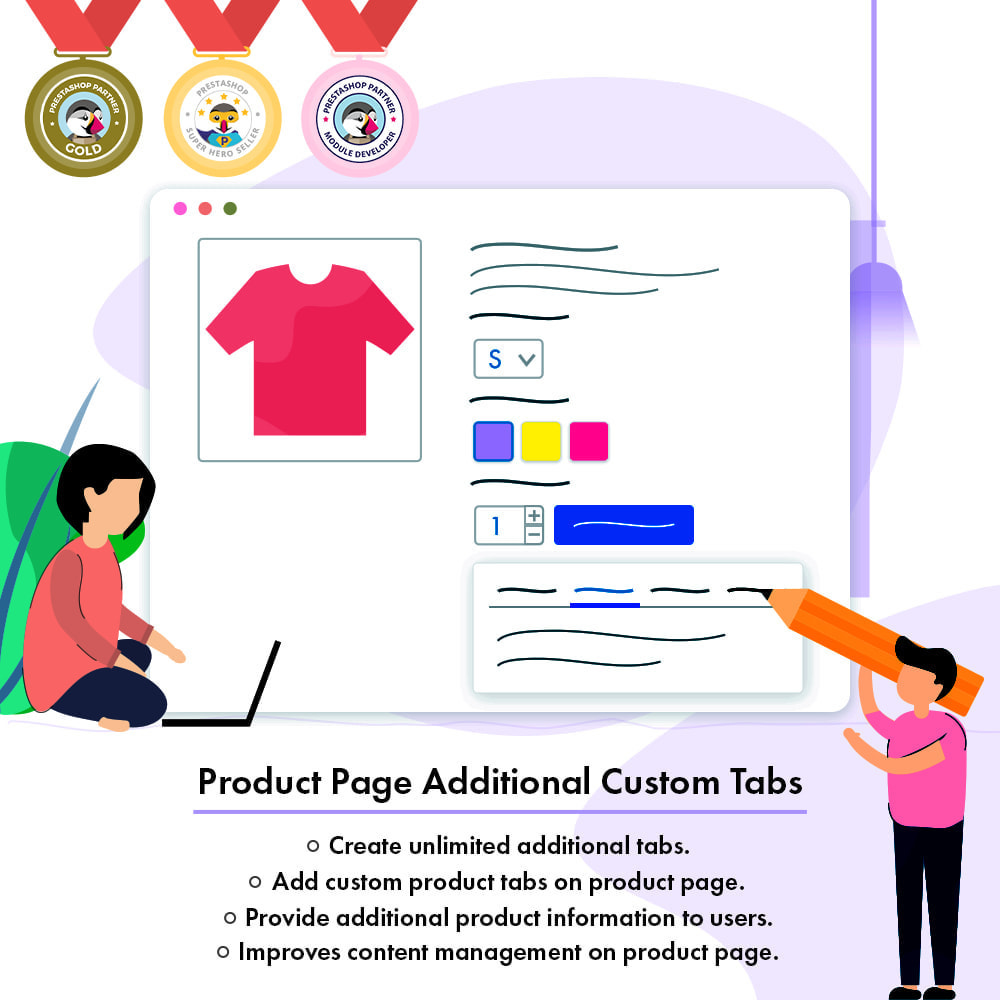 module - Additional Information & Product Tab - Product Page Additional Custom Tabs - 1