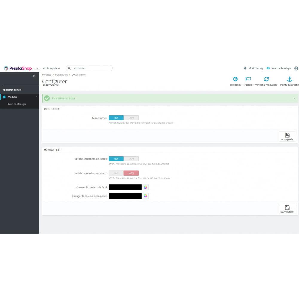 module - Information supplémentaire & Onglet produit - Compteur de visite sur la page produit - 1