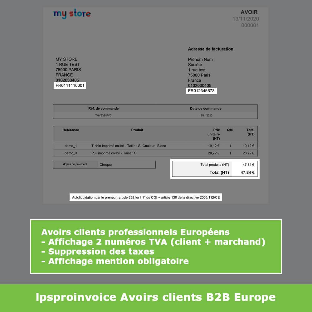 module - Comptabilité & Facturation - Facturation B2B - Suppression Taxes (sans TVA / HT) - 11