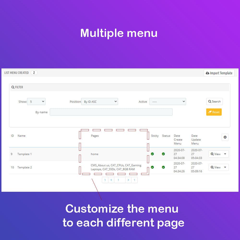 module - Menu - Mega Menu Premium - Design drag/drop Easier - 11