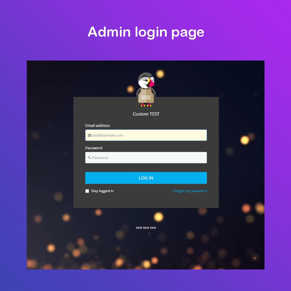 module - Panel de control - Personalizar la página de administración PRO - 1