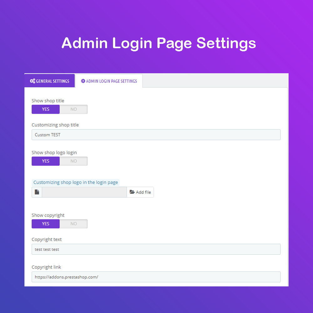 module - Panel de control - Personalizar la página de administración PRO - 3