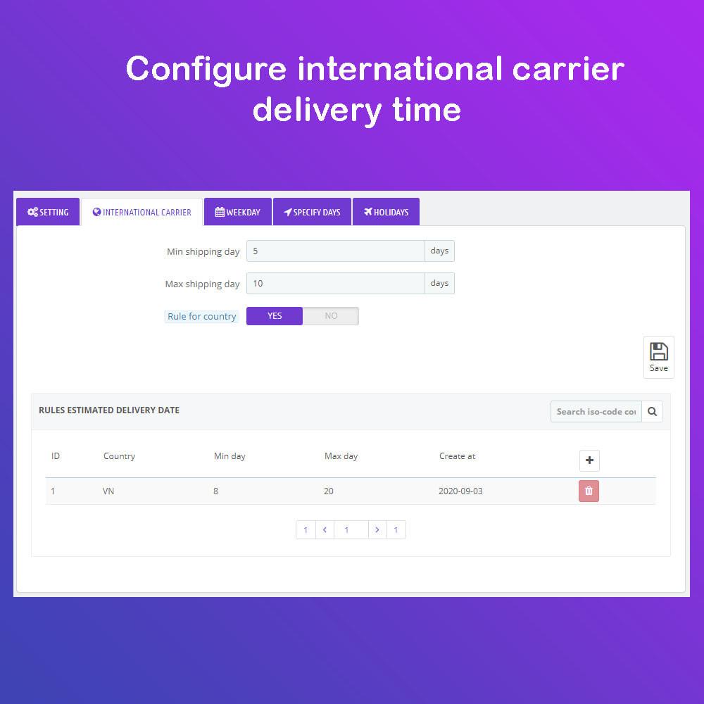 module - Fecha de entrega - Fecha estimada de entrega & Entrega programada PRO - 10