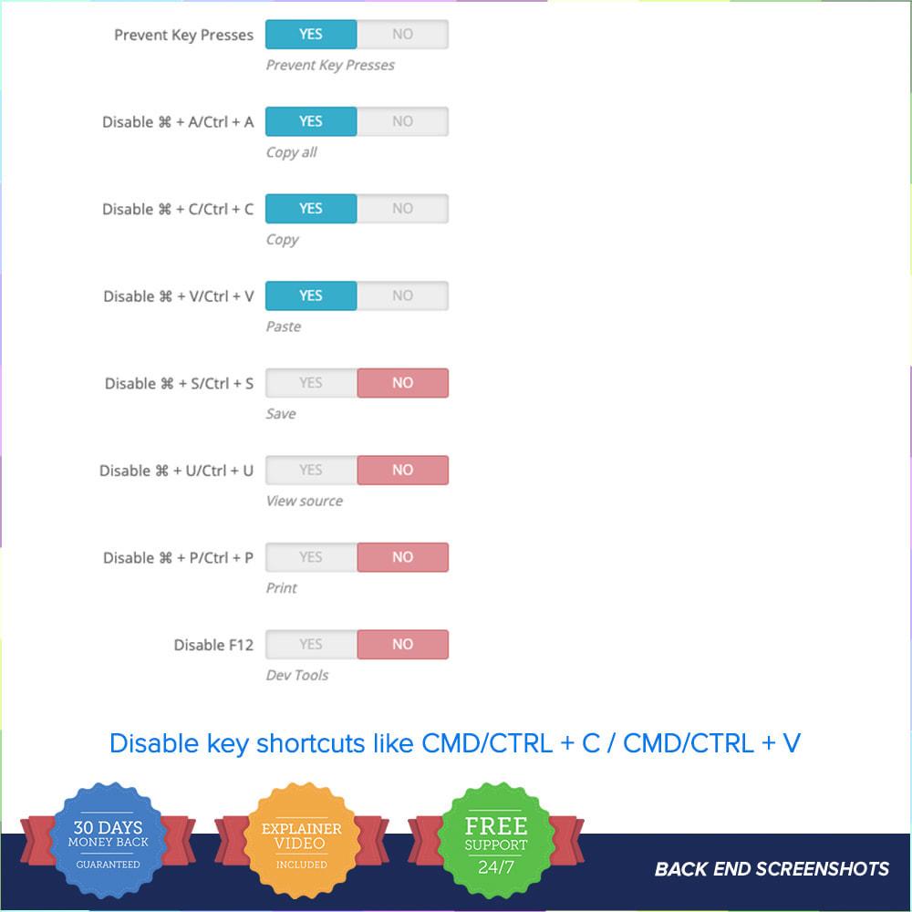 module - Sécurité & Accès - Protection du contenu PRO - 5