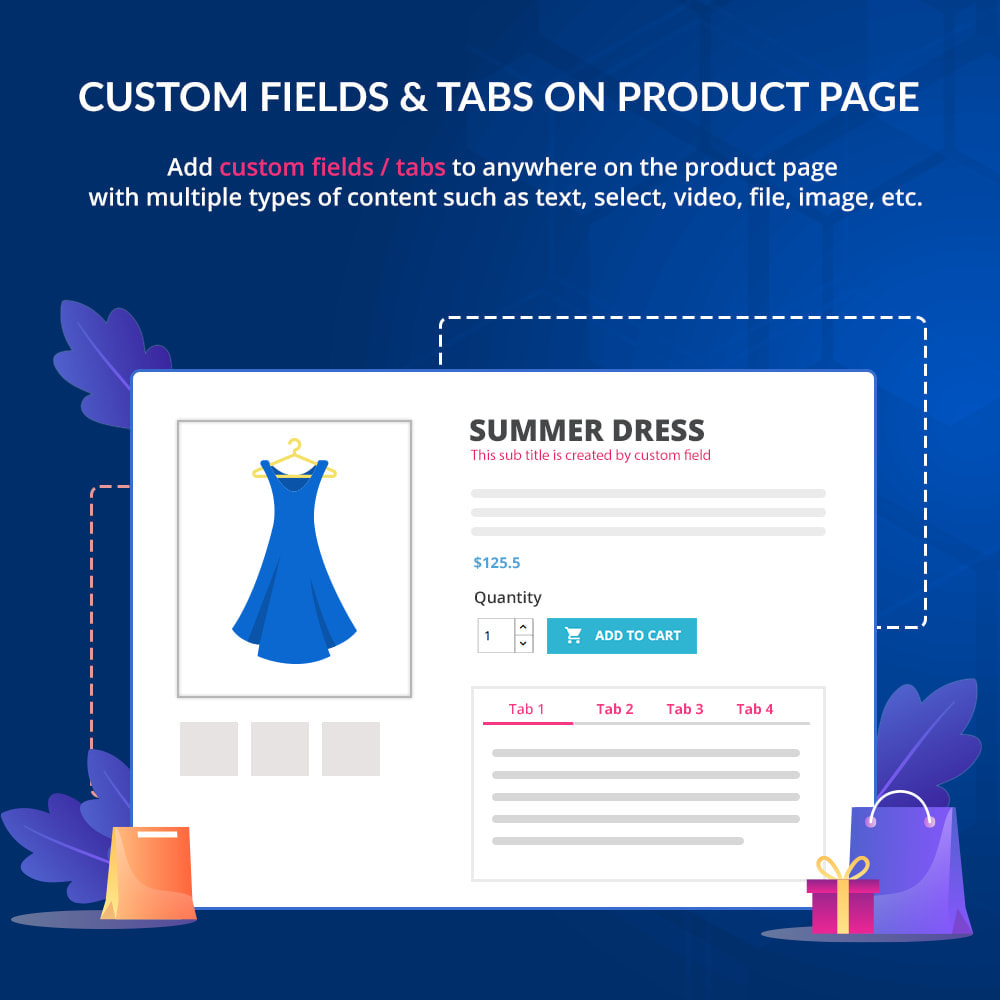 module - Additional Information & Product Tab - Custom fields & tabs on product page - 1