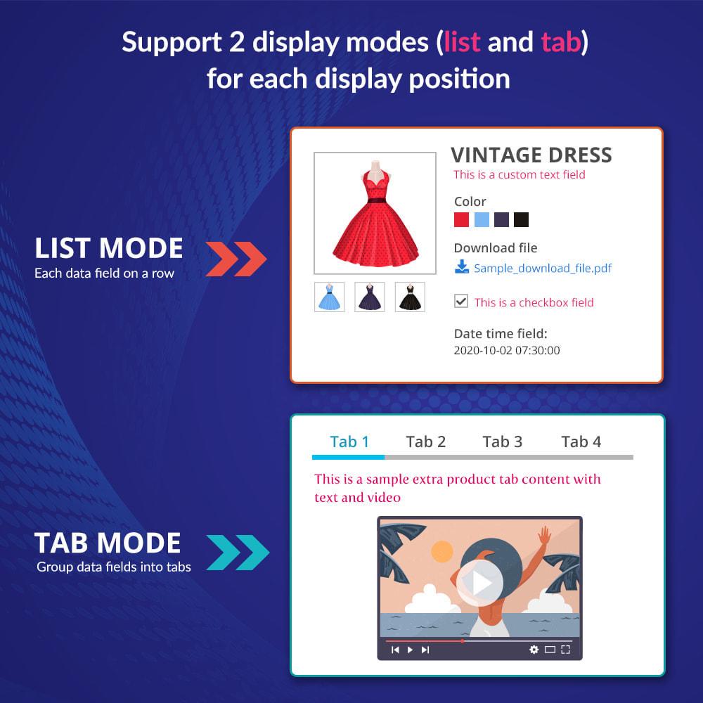 module - Dodatkowe informacje & Zakładka produktu - Custom fields & tabs on product page - 3