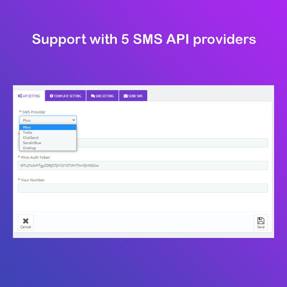 module - Newsletter y SMS - SMS Service PRO - Login/Reset Password - Pedido por SMS - 5