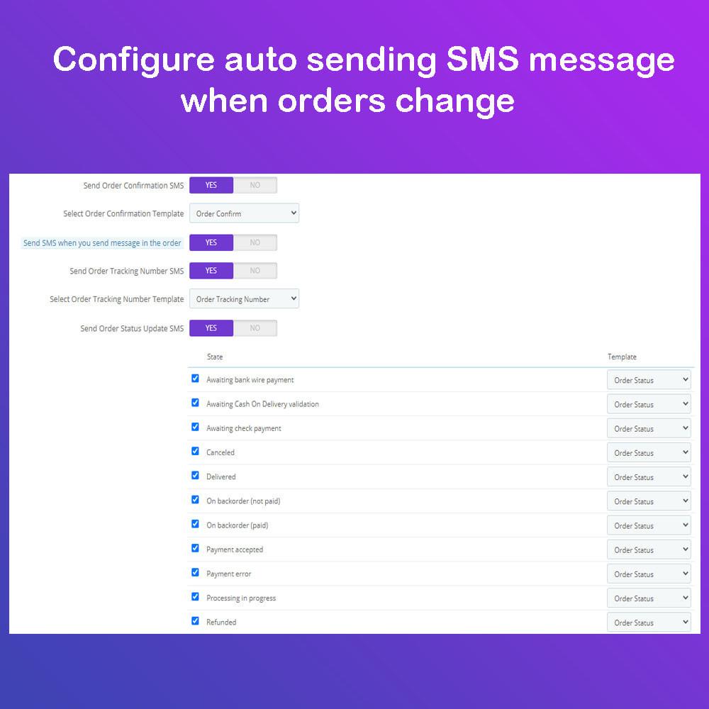 module - Newsletter & SMS - SMS Service PRO - Login/Reset password - Ordine via SMS - 9