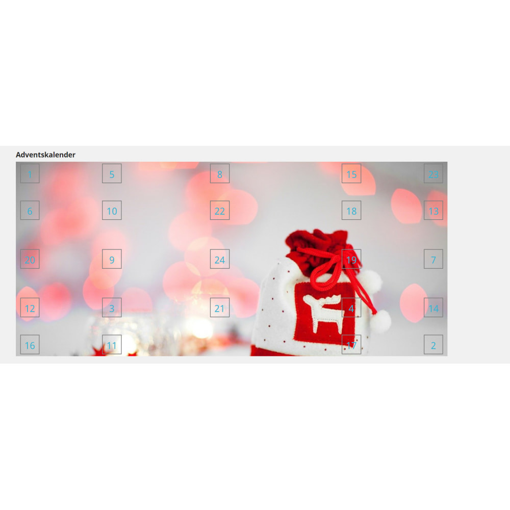 module - Personalização de página - Advent Calendar / Christmas Calendar / Santa Calendar - 11