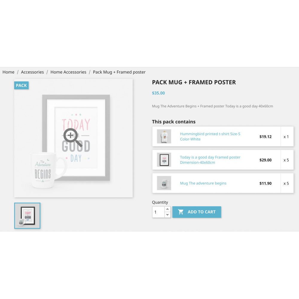 module - Combinations & Product Customization - Product Bundle Pack|Add multiple products into the cart - 10