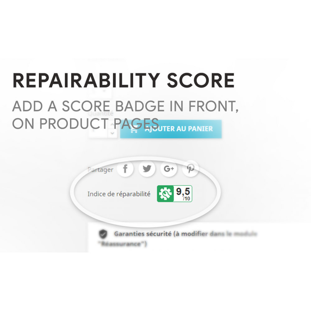 module - Legal - Repairability score for products - 2