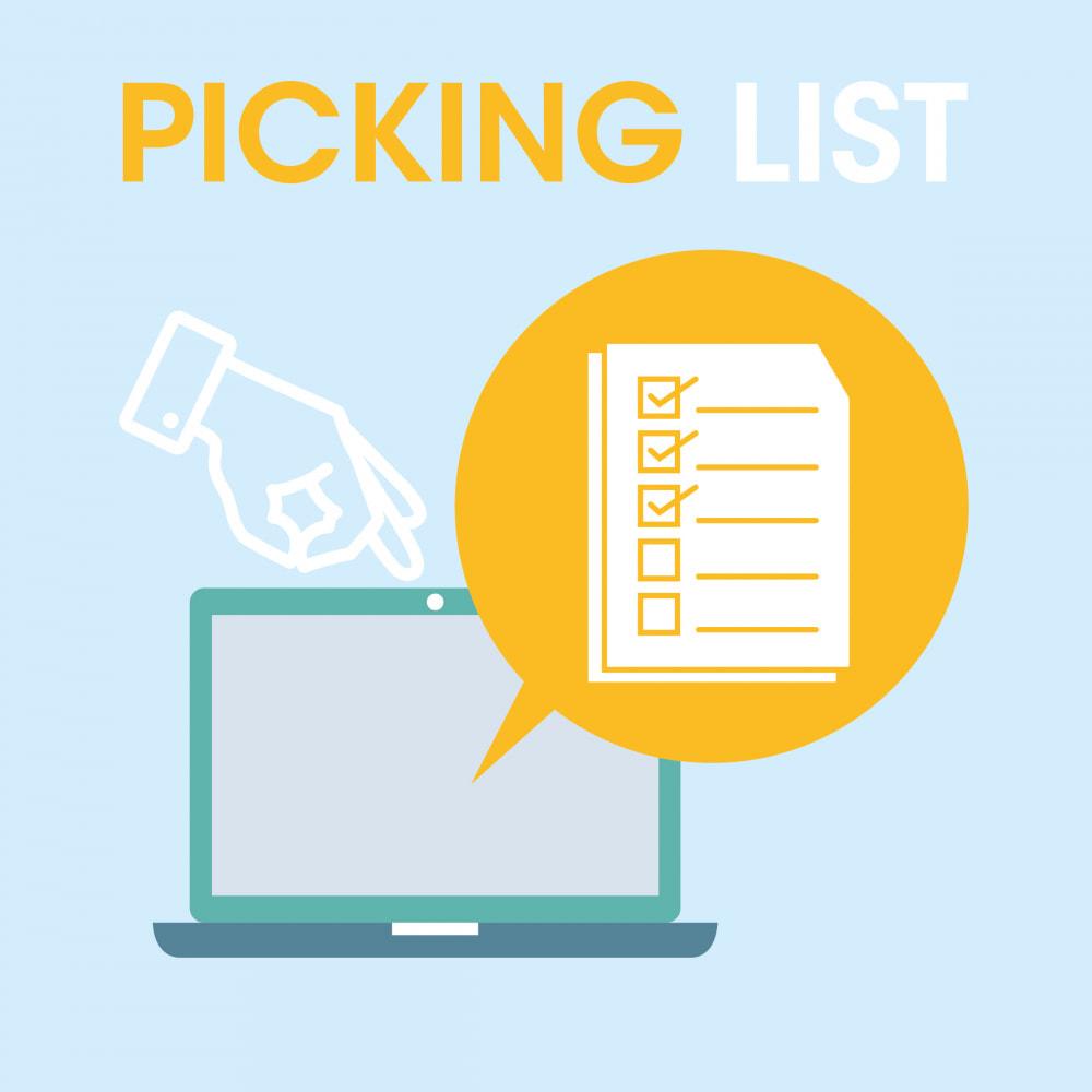 module - Preparación y Envíos - Pickinglist - lista de productos para enviar - 1