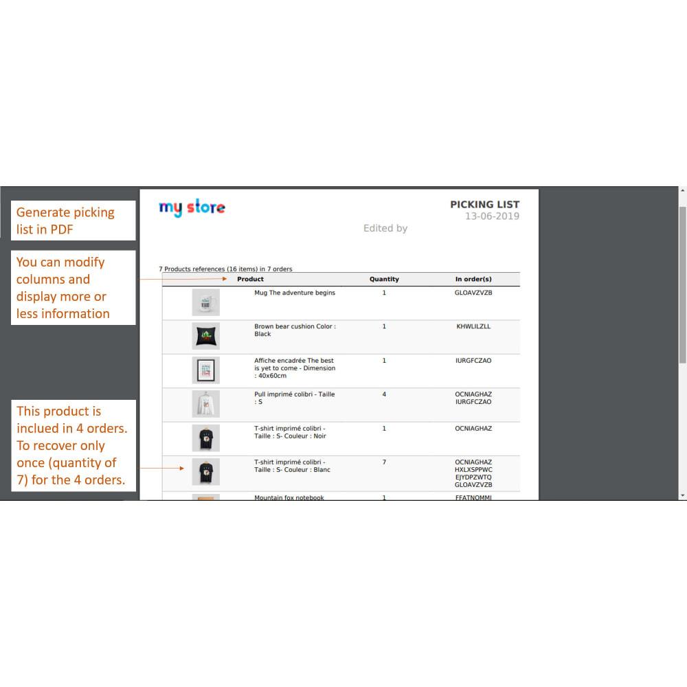module - Preparazione & Spedizione - Pickinglist - lista dei prodotti da spedire - 4