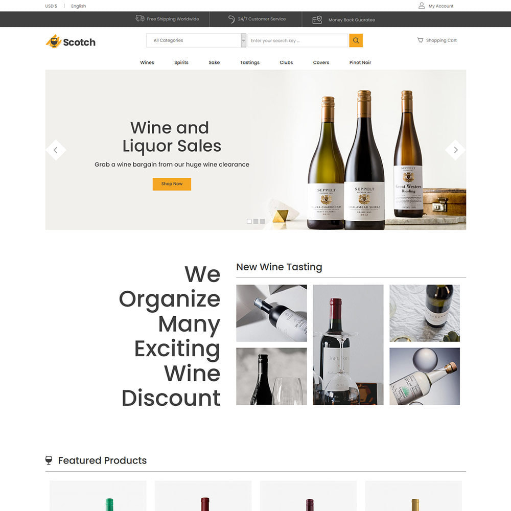 theme - Напитки и с сигареты - Scotch Wine -  Alcoholic drink Store - 2