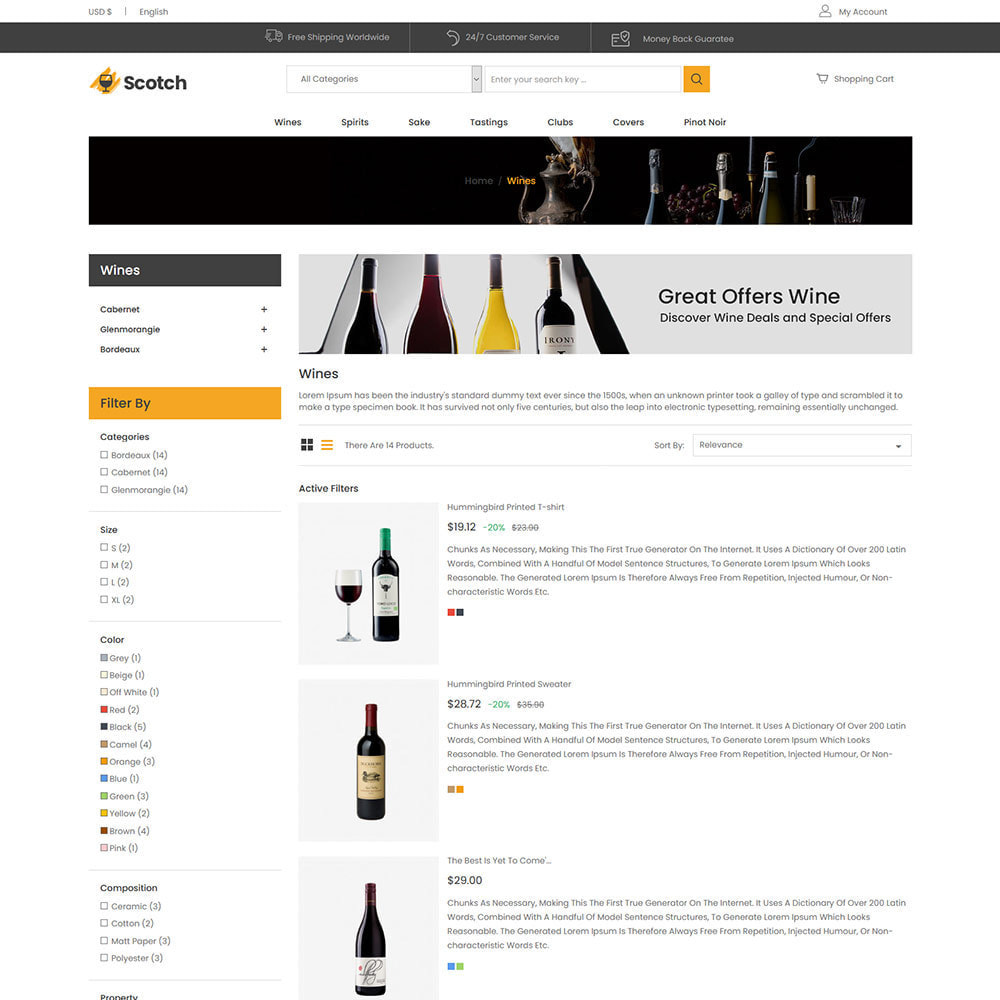 theme - Напитки и с сигареты - Scotch Wine -  Alcoholic drink Store - 4
