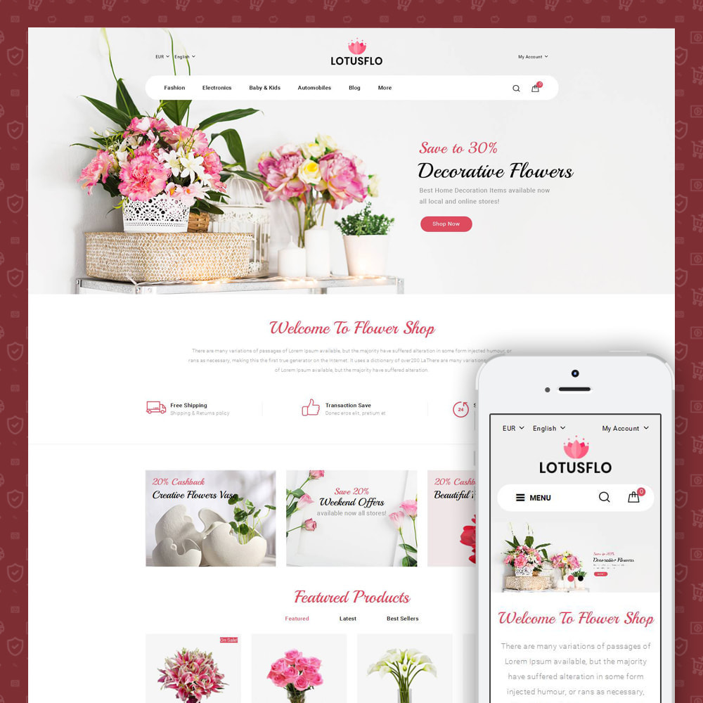 theme - Gifts, Flowers & Celebrations - Lotusflow - Flowers Shop - 1