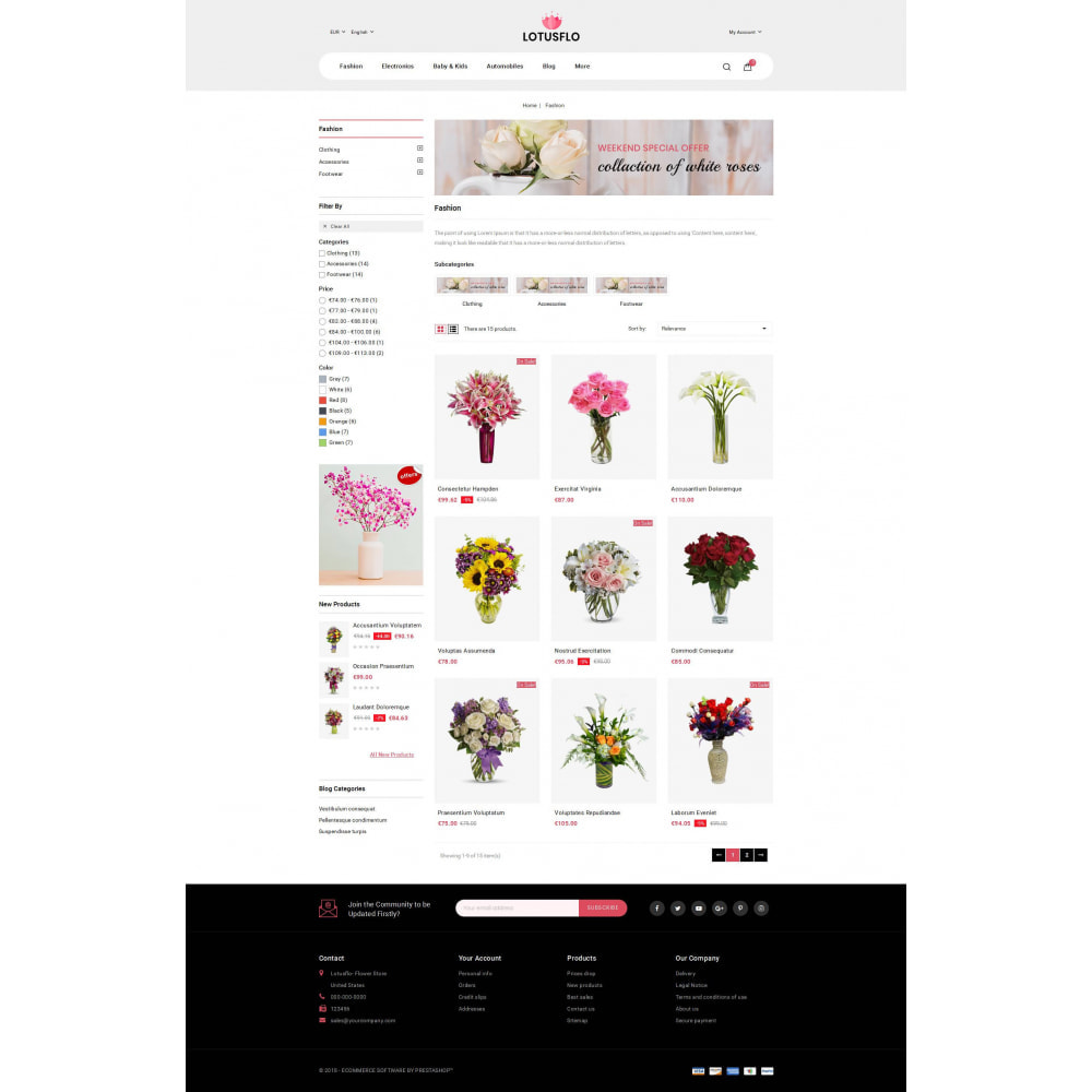 theme - Gifts, Flowers & Celebrations - Lotusflow - Flowers Shop - 3