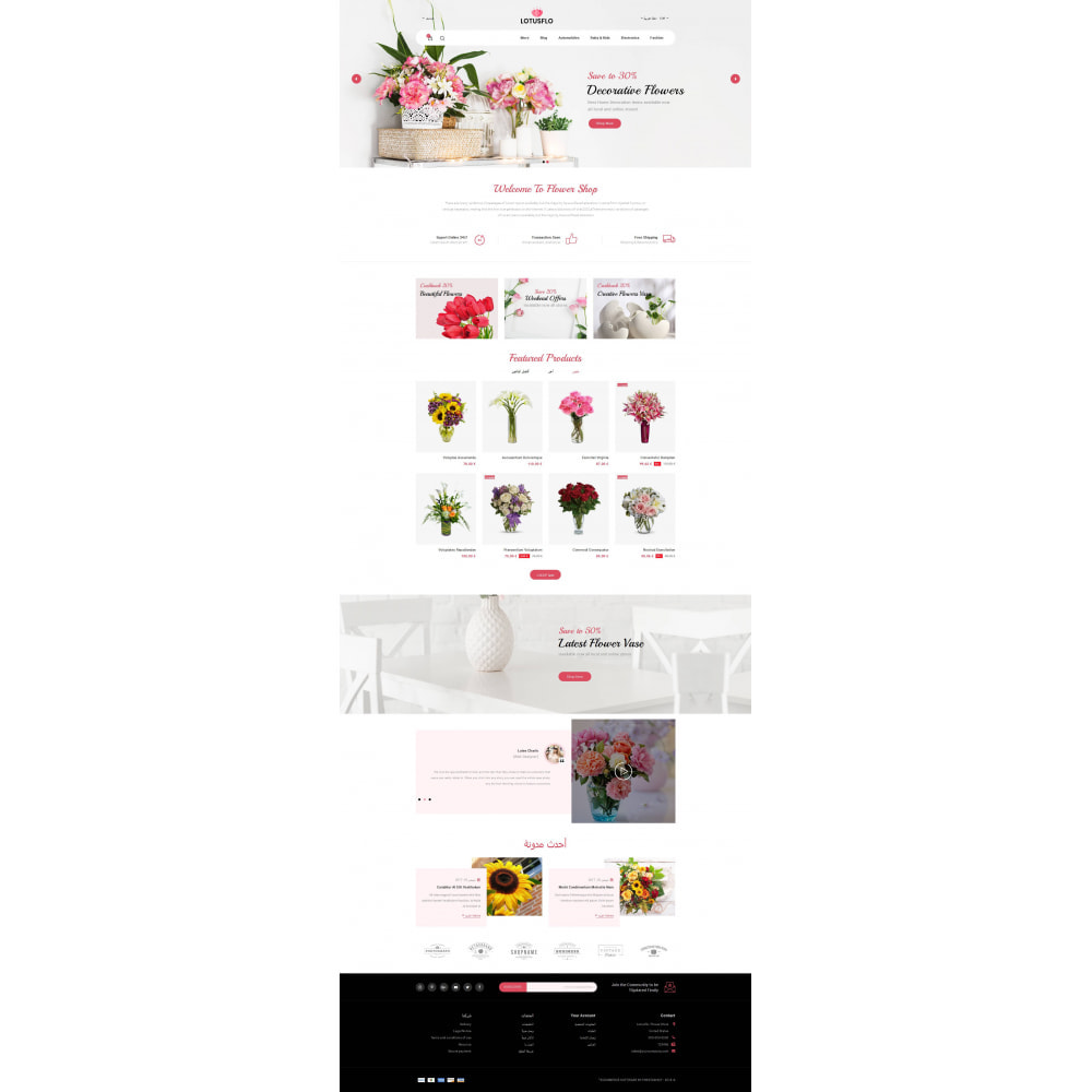 theme - Gifts, Flowers & Celebrations - Lotusflow - Flowers Shop - 9