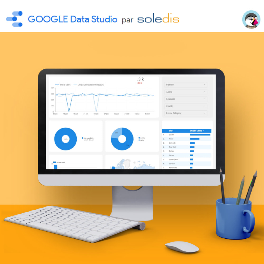 module - Informes y Estadísticas - Google Data Studio connector - 5