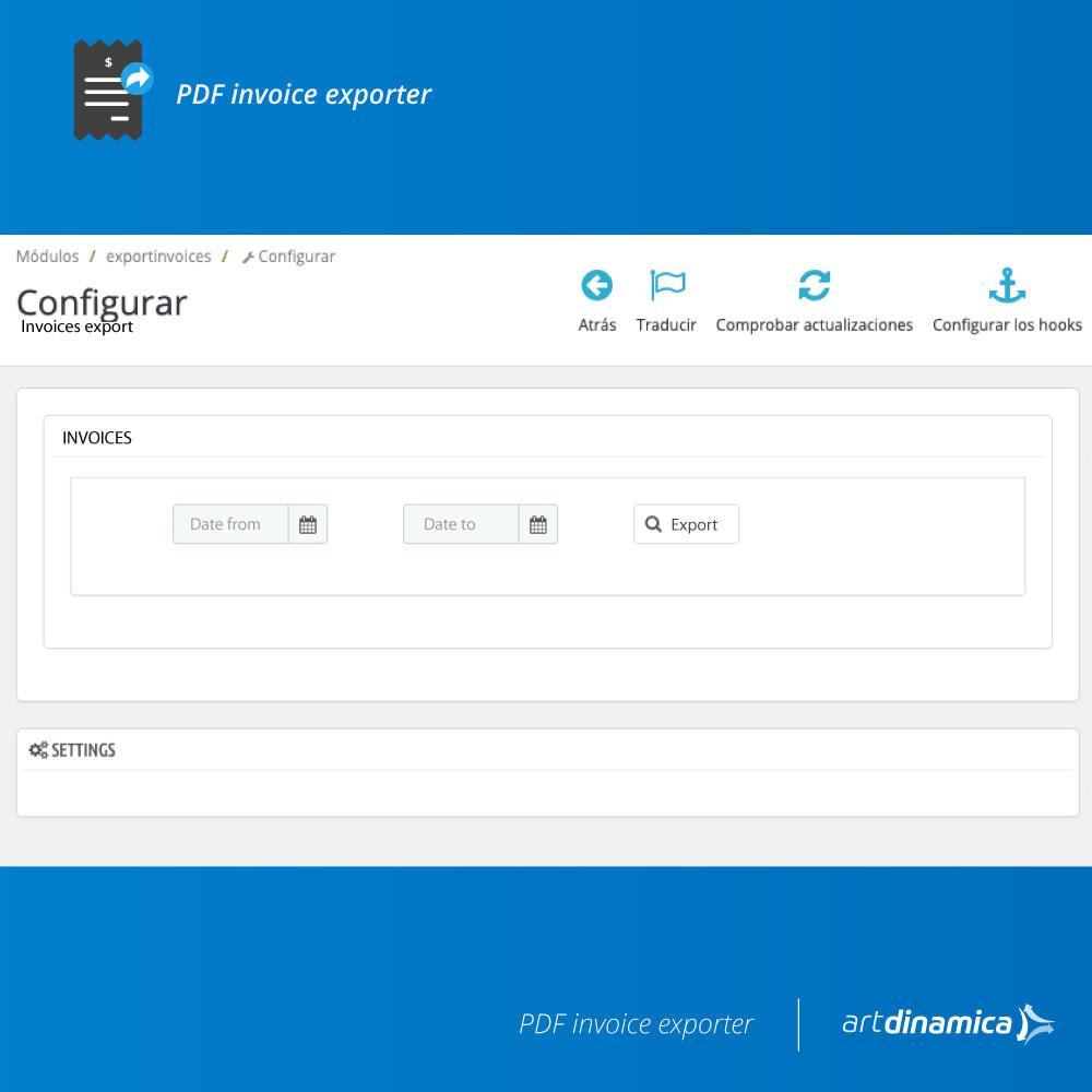 module - Contabilidad y Facturas - Exportación de facturas formato Excel, CSV - 2