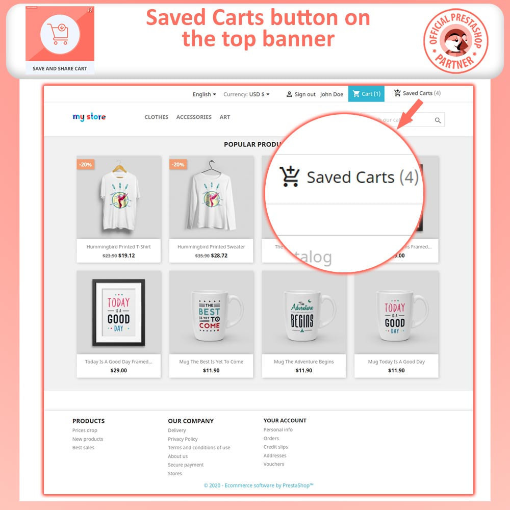 module - Registration & Ordering Process - Save and Share Cart - 2