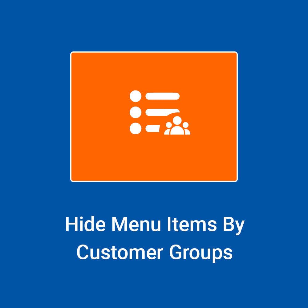 module - Customer Administration - Hide Menu Items by Customer Groups - 1