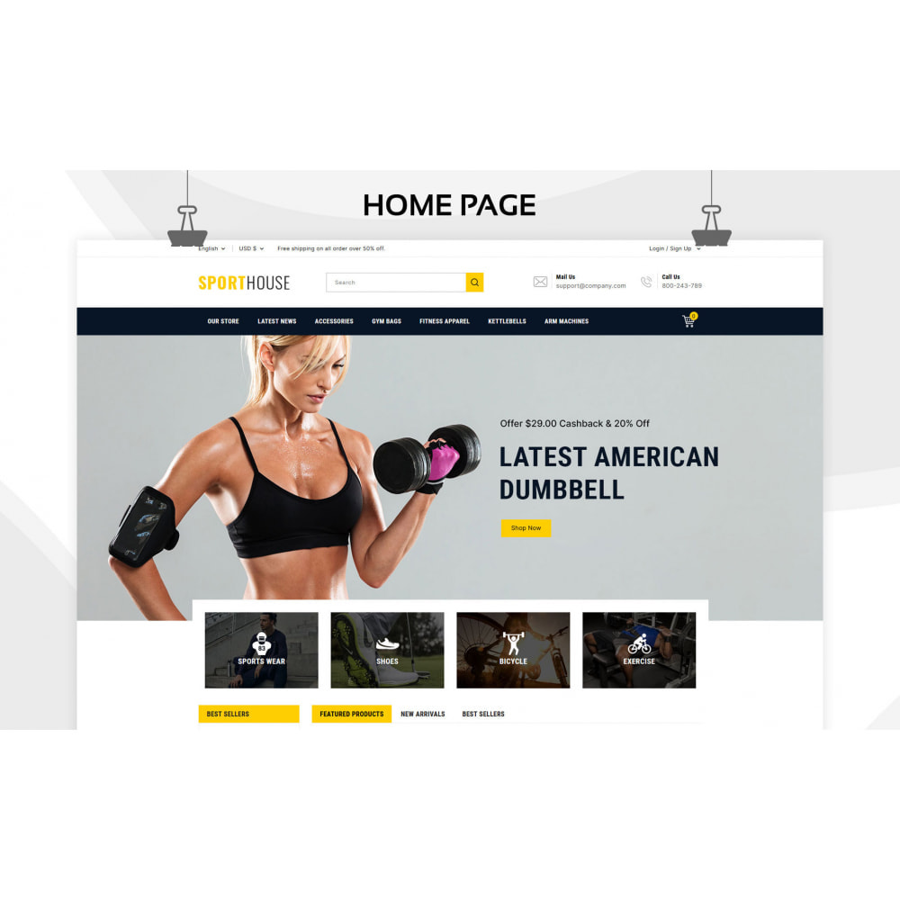 theme - Sports, Activities & Travel - Sport House Online Sports Store - 3