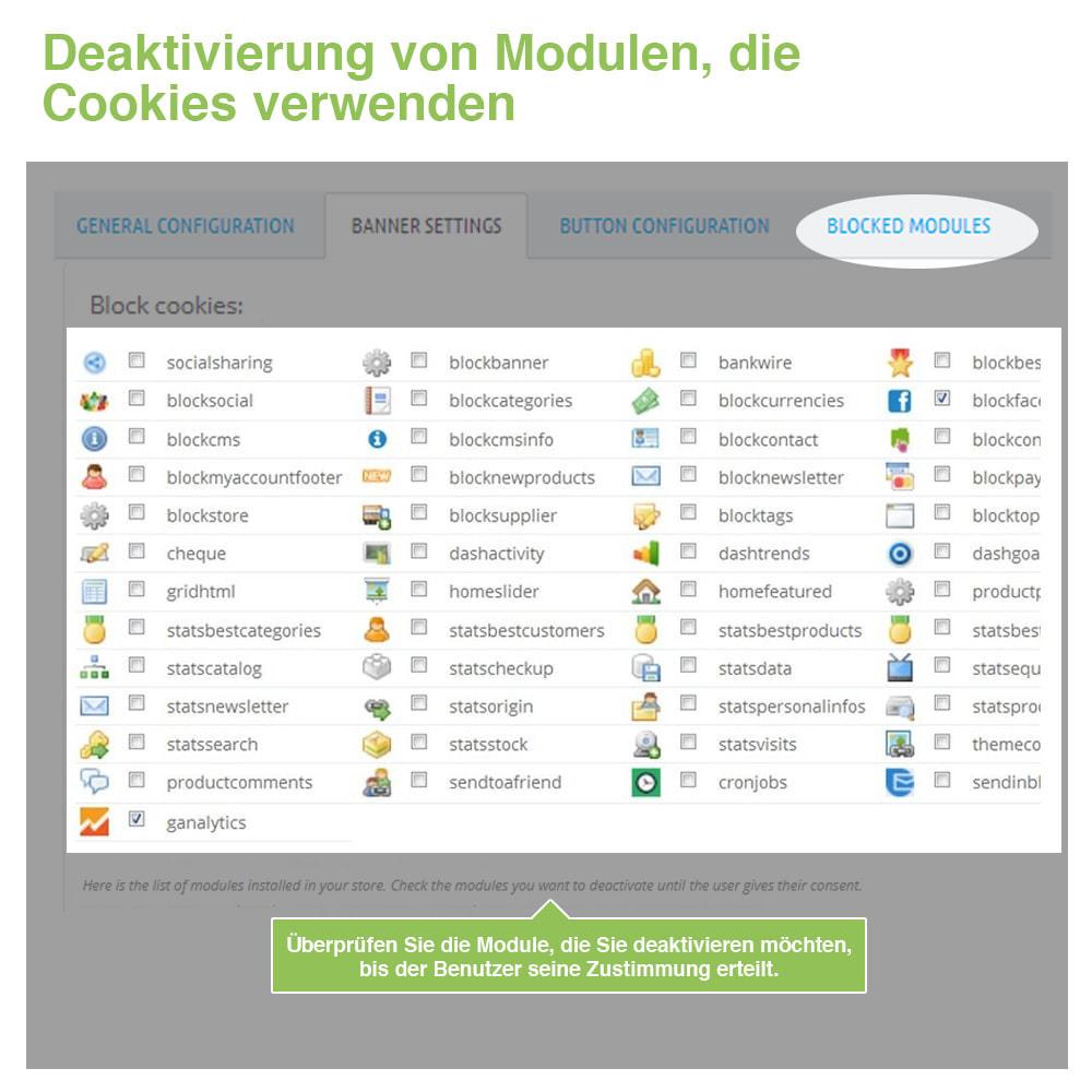 module - Rechtssicherheit - Cookie GDPR (Benachrichtigungs + Blocker) - 2020 Update - 17