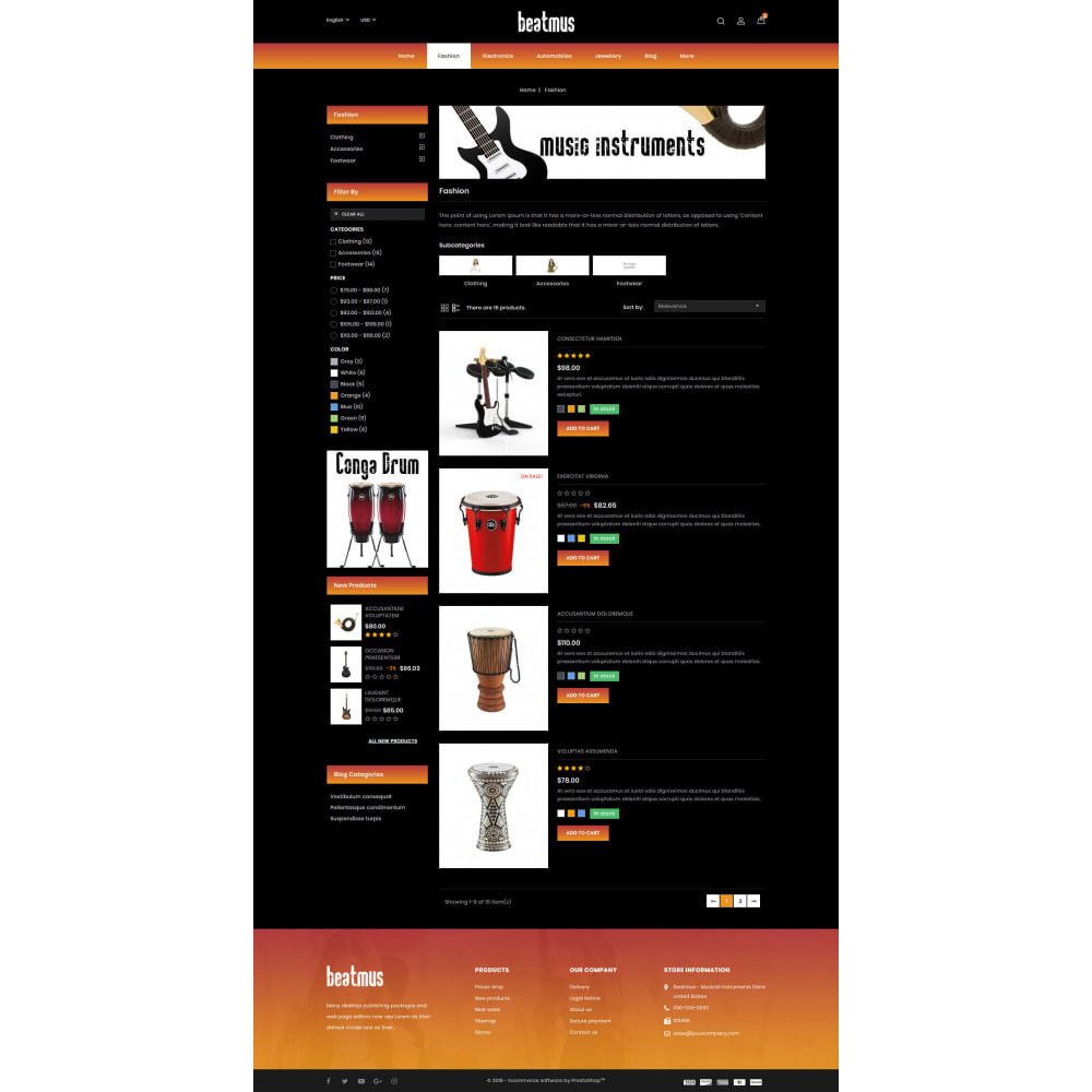 theme - Arte & Cultura - Beatmus - Musical Instrument Store - 4