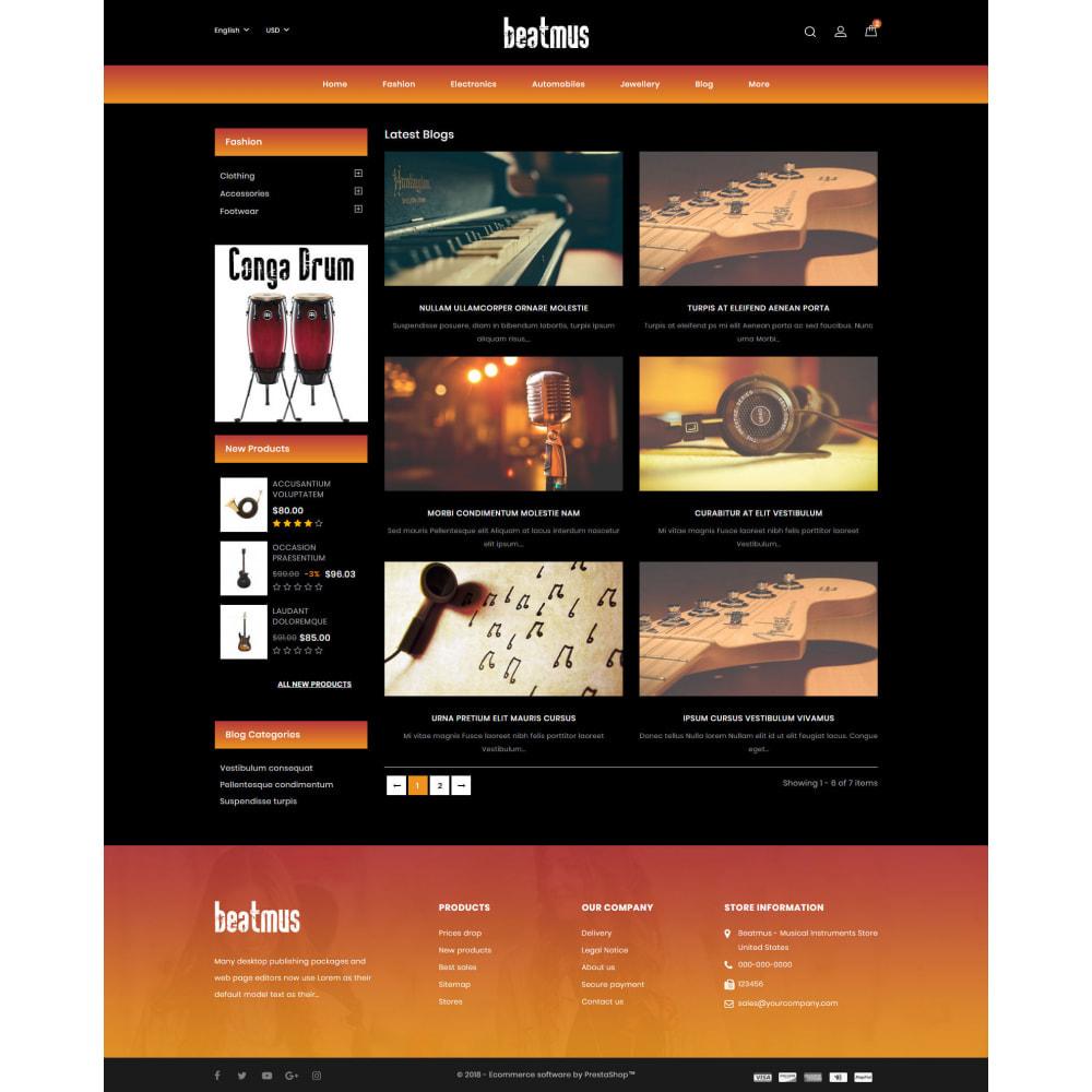 theme - Arte & Cultura - Beatmus - Musical Instrument Store - 9