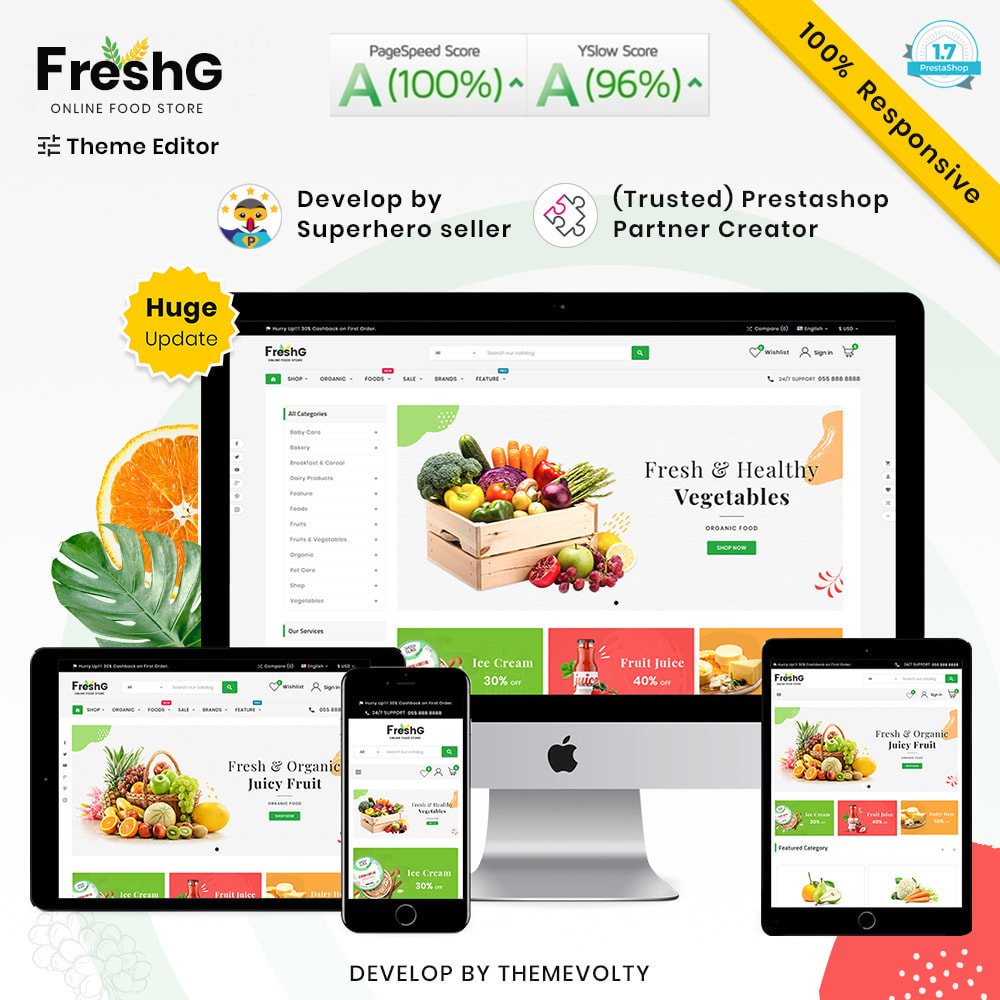 theme - Продовольствие и рестораны - FreshG Mega Grocery–Food Drink–Coffee Super Store v3 - 1
