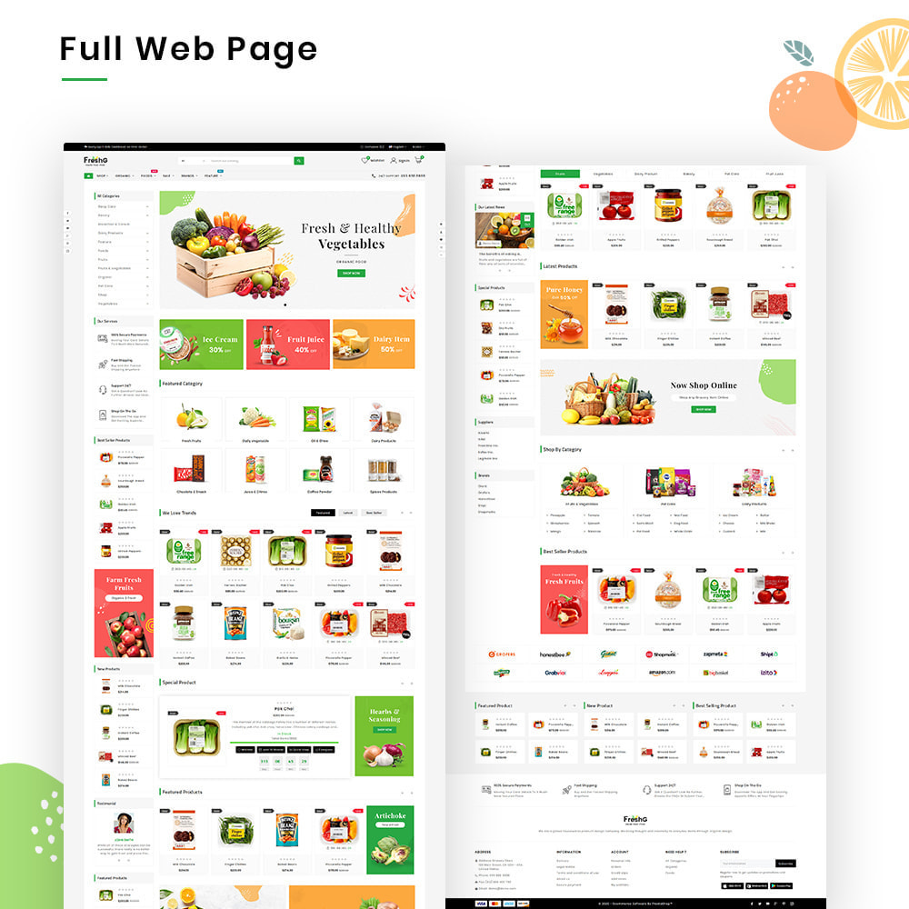 theme - Продовольствие и рестораны - FreshG Mega Grocery–Food Drink–Coffee Super Store v3 - 2