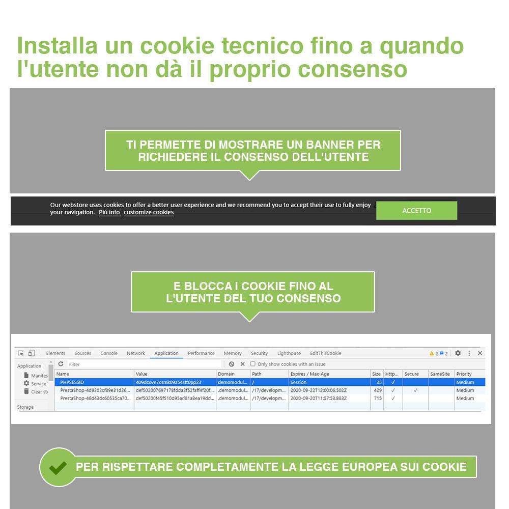 module - Legale (Legge Europea) - Legge Cookies RGPD (Avviso + Blocker) - Upgrade 2020 - 3