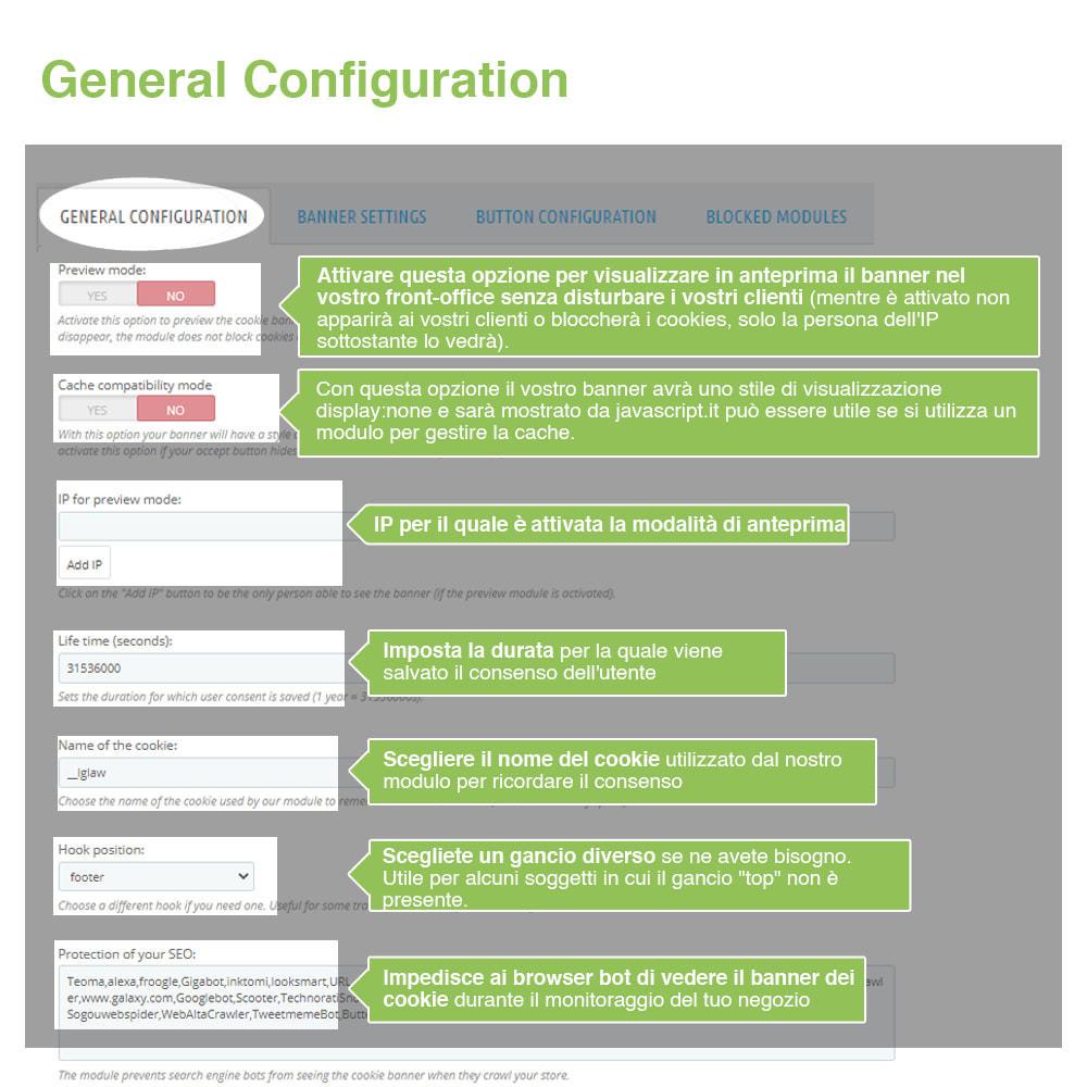 module - Legale (Legge Europea) - Legge Cookies RGPD (Avviso + Blocker) - Upgrade 2020 - 12