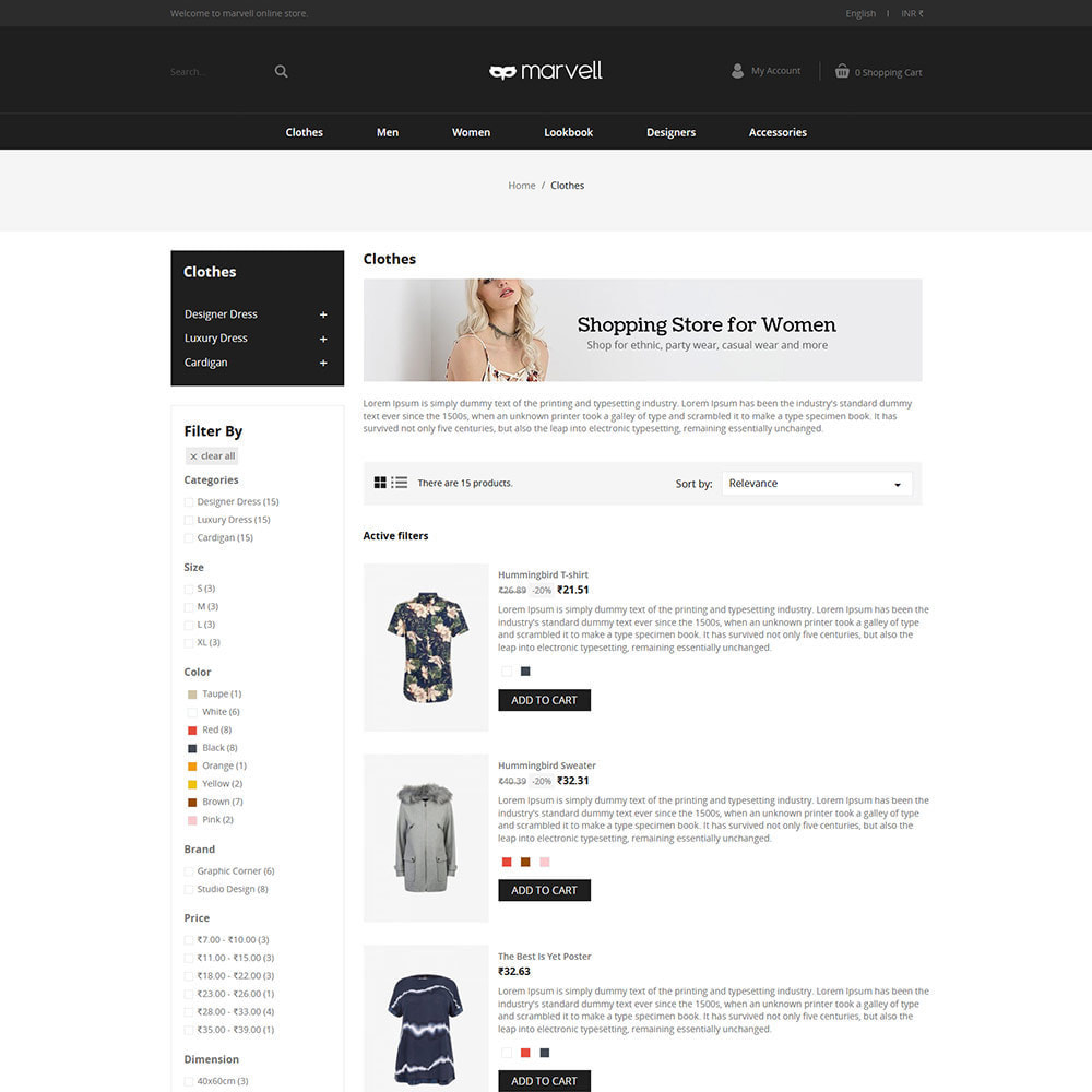 theme - Fashion & Shoes - Clothes  Women - Designer  Fashion Store - 4