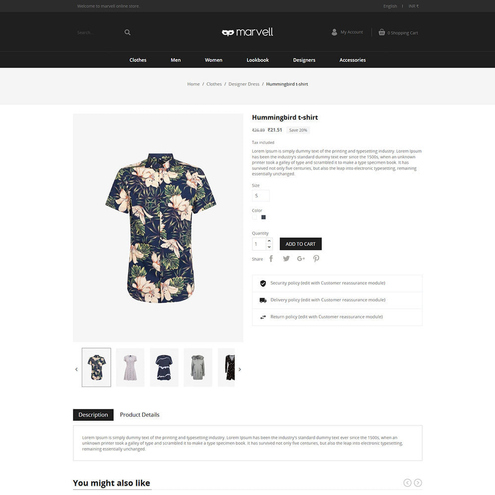 theme - Fashion & Shoes - Clothes  Women - Designer  Fashion Store - 5