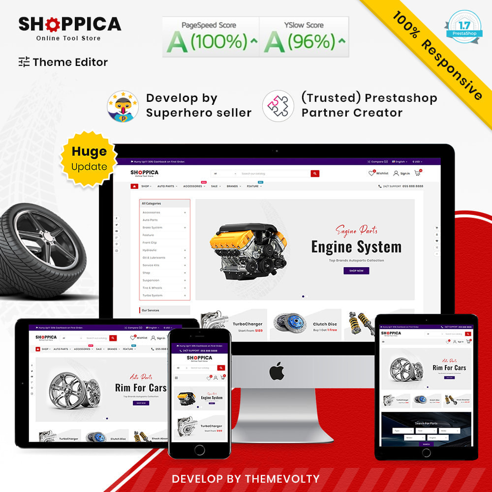 theme - Auto's & Motoren - Shoppica Mega Spare–Parts & Cars–Tools Super Store v3 - 1