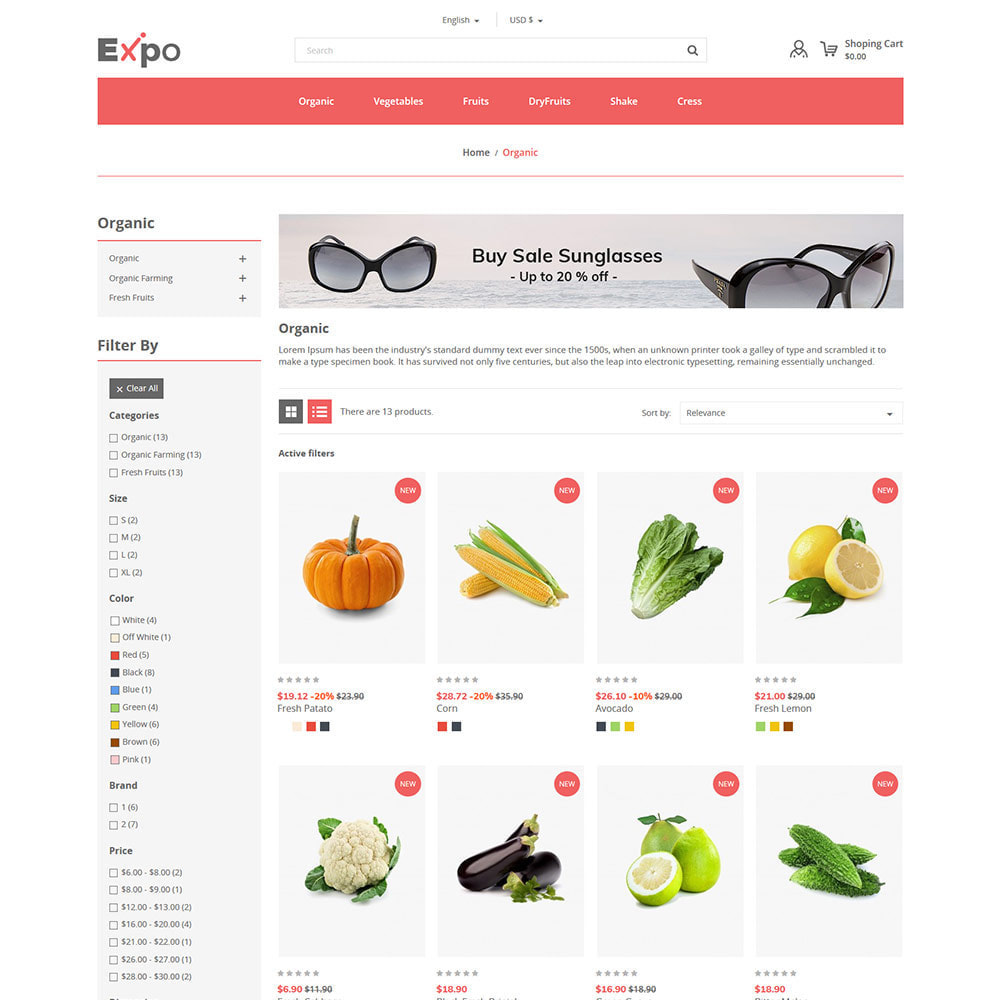 theme - Food & Restaurant - Restaurant - Food  Vegitable  Organics  Store - 3