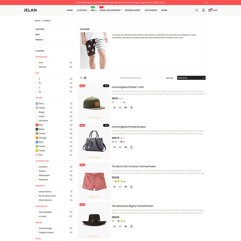 theme - Fashion & Shoes - Jelan - The Best Fashion Store - 4