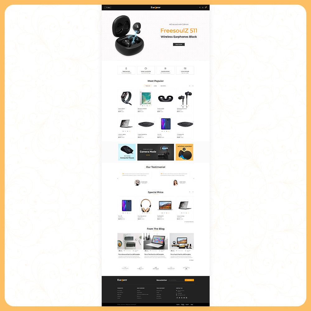 theme - Electronics & Computers - Elettronica –Escocer –Electronic Shop - 2