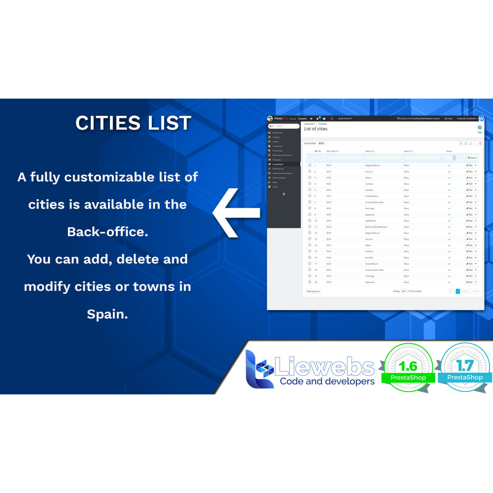 module - International & Localization - Spanish Cities (Spanish cities, towns, villages) - 3