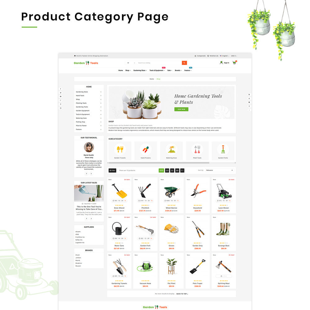 theme - Casa & Jardins - Gardening Mega Garden–Tools Blooming–Plants Store - 3