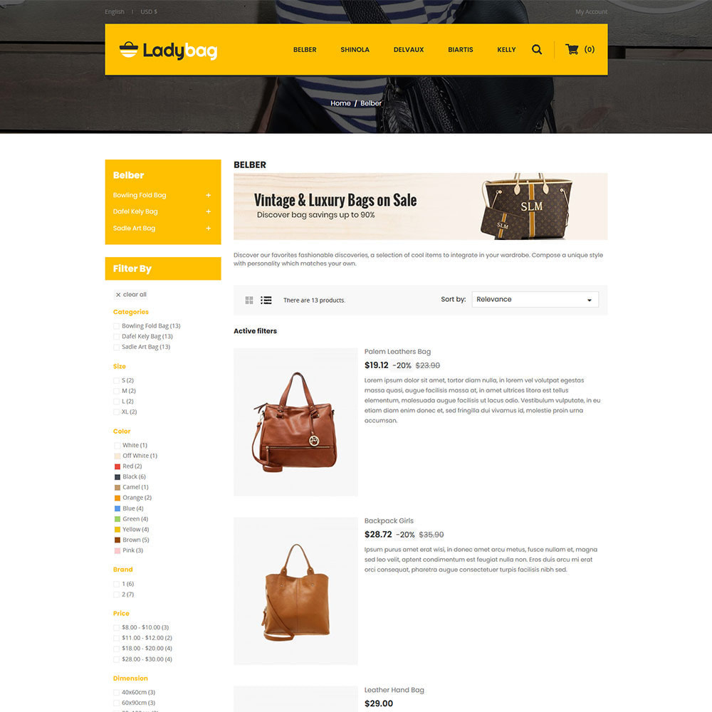 theme - Fashion & Shoes - Ladybag Bag - Watch Accessories Store - 4