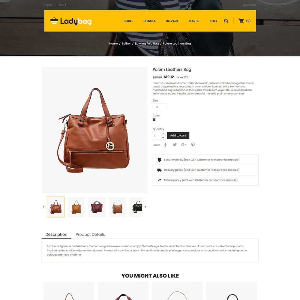 theme - Fashion & Shoes - Ladybag Bag - Watch Accessories Store - 5