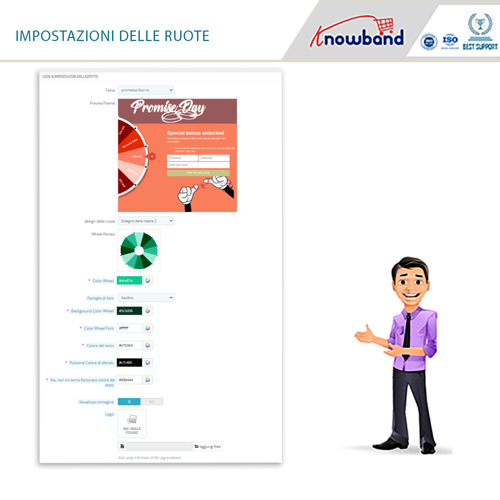 module - Promozioni & Regali - Knowband-Entry,Exit and Subscription Popup-Spin and Win - 12
