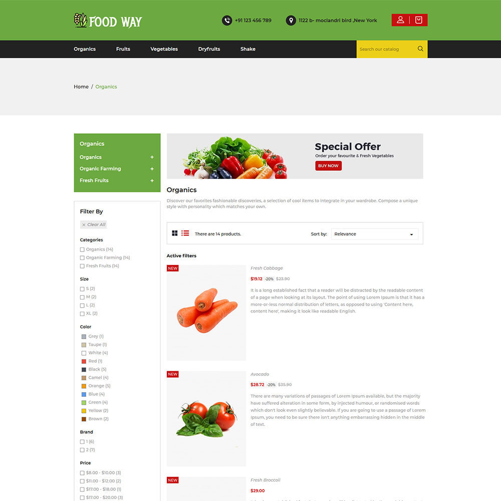 theme - Alimentation & Restauration - Organic Food  - Vegetable Fruit Beans Store - 4