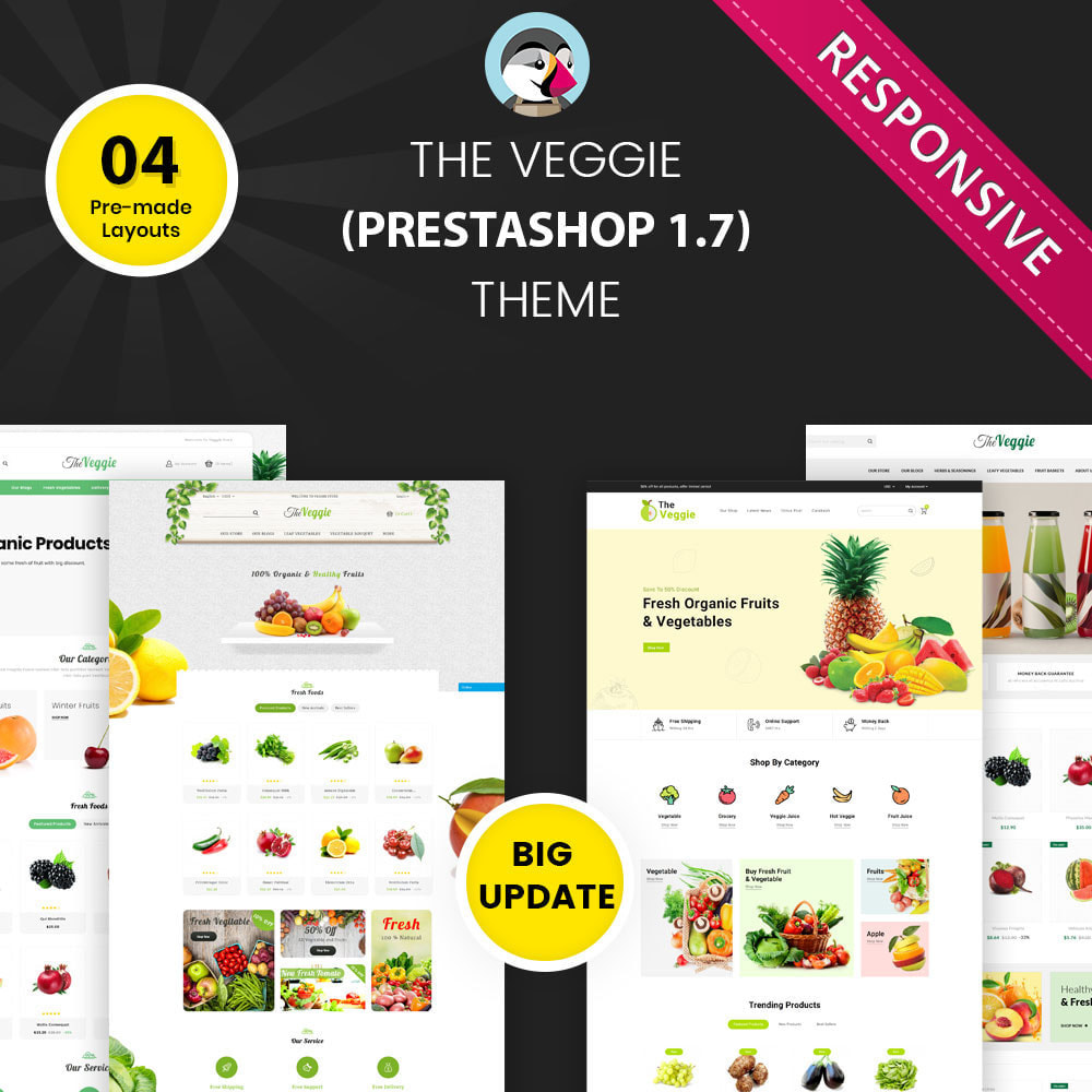 theme - Food & Restaurant - Veggie  - The Organic Store - 1