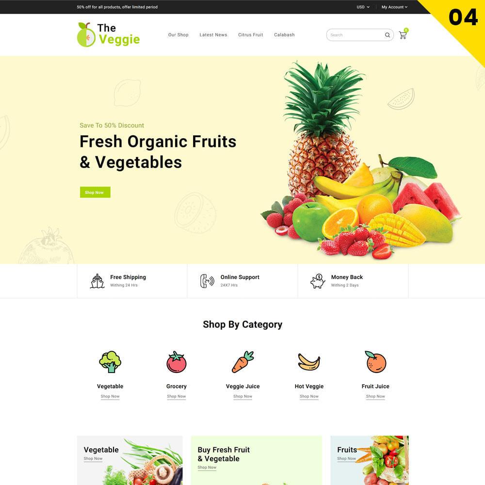 theme - Food & Restaurant - Veggie  - The Organic Store - 6