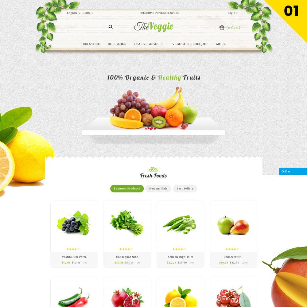 theme - Alimentation & Restauration - Veggie - Le magasin bio - 3